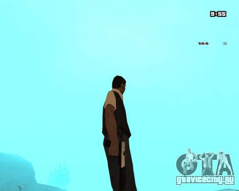 White Chrome Silenced для GTA San Andreas третий скриншот