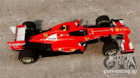Ferrari F138 2013 v5 для GTA 4 вид справа