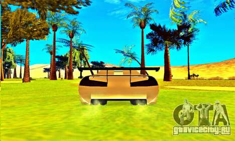 Infernus Rally Moster Energy 2012 для GTA San Andreas вид сзади