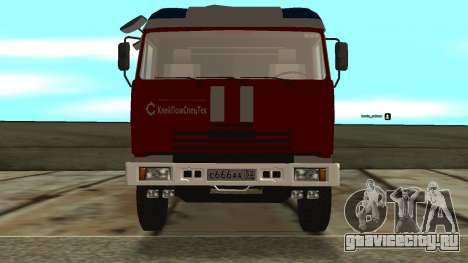 КамАЗ 5245 МЧС для GTA San Andreas вид слева