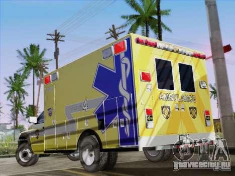 Dodge Ram Ambulance BCFD Paramedic 100 для GTA San Andreas