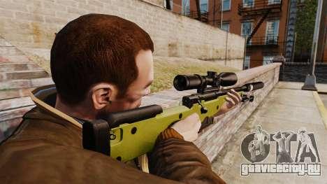 Снайперская винтовка AW L115A1 с глушителем v3 для GTA 4 второй скриншот