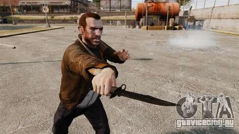 Нож The Alabama Slammer чёрный для GTA 4 третий скриншот
