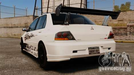 Mitsubishi Lancer Evolution VIII MR CobrazHD для GTA 4 вид сзади слева