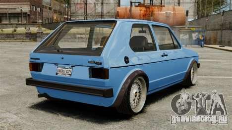 Volkswagen Golf MK1 GTI ToneBee EDITED для GTA 4 вид сзади слева