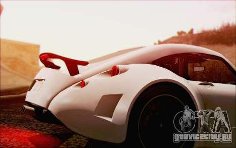 Wiesmann GT MF5 2010 для GTA San Andreas вид сверху