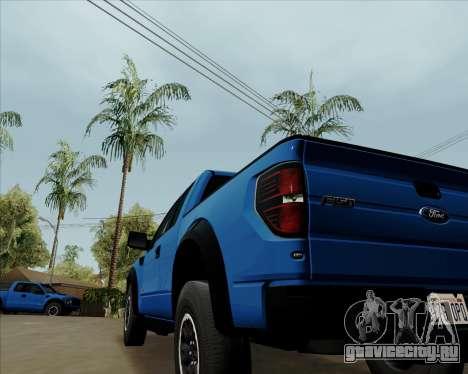 Ford F-150 SVT Raptor 2011 для GTA San Andreas вид справа