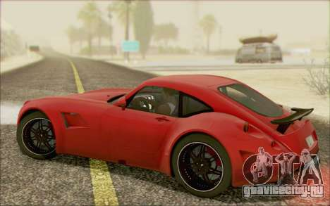 Wiesmann GT MF5 2010 для GTA San Andreas вид изнутри