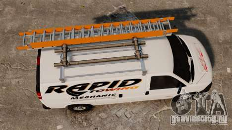 GMC Savana 2500 Rapid Towing Mechanic для GTA 4 вид справа