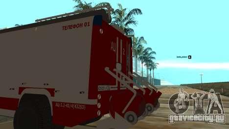КамАЗ 5245 МЧС для GTA San Andreas вид сзади слева