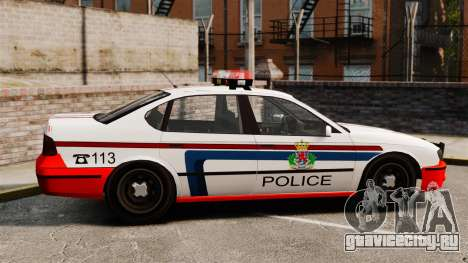 Полиция Люксембурга для GTA 4 вид слева