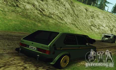 Volkswagen Rabbit GTI 1986 Cult Style для GTA San Andreas