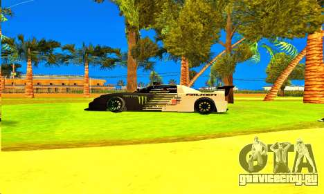 Infernus Rally Moster Energy 2012 для GTA San Andreas вид сзади слева