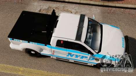 Ford F-150 v3.3 NYPD [ELS & EPM] v3 для GTA 4 вид справа
