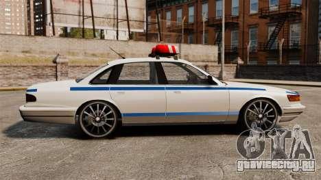 Police на 20-ти  дюймовых дисках для GTA 4 вид слева