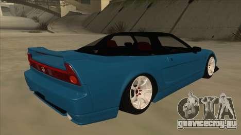 Honda NSX для GTA San Andreas вид справа