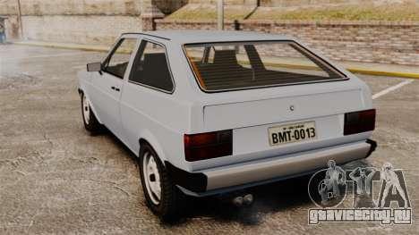 Volkswagen Gol LS 1986 для GTA 4 вид сзади слева