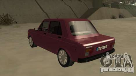 Zastava Yugo 128 для GTA San Andreas вид сзади