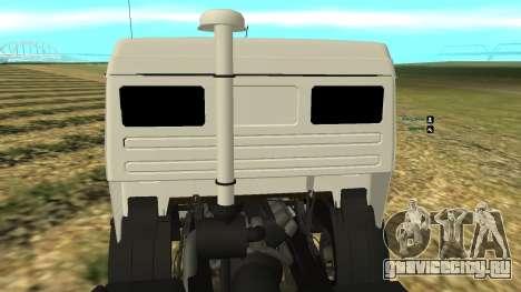 Камаз 54112 для GTA San Andreas вид сзади