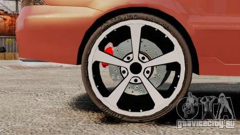 Mitsubishi Lancer Evolution IX 1.6 для GTA 4 вид сзади