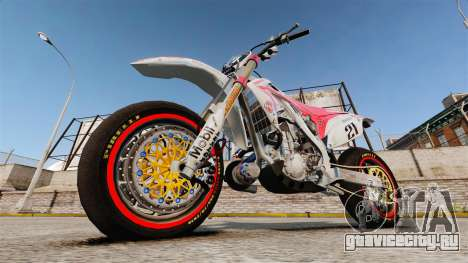 Honda CRF 450 Turbo Motard для GTA 4 вид справа