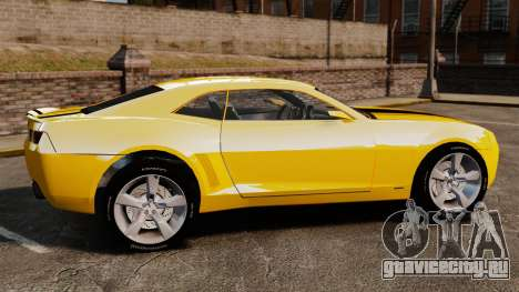 Chevrolet Camaro Bumblebee для GTA 4 вид слева