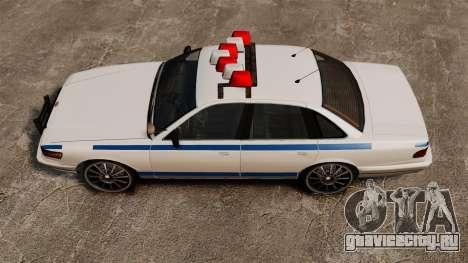 Police на 20-ти  дюймовых дисках для GTA 4 вид справа