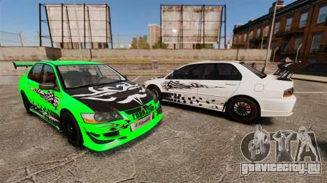 Mitsubishi Lancer Evolution VIII MR CobrazHD для GTA 4 вид сбоку
