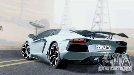 Lamborghini Aventador LP760-2 2013 для GTA San Andreas вид сзади