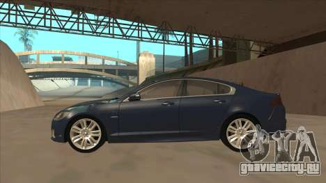 Jaguar XFR 2010 v1.0 для GTA San Andreas вид сзади слева
