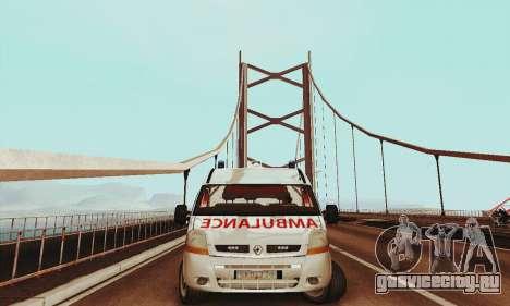 Renault Master PCSO AMBULANCE для GTA San Andreas вид слева