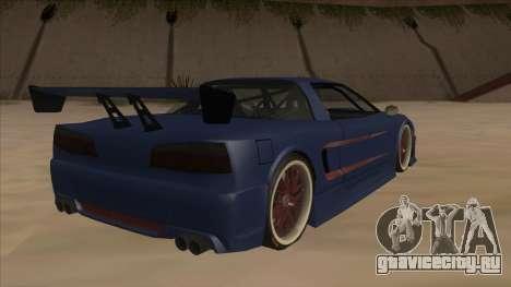 Infernus 2013 для GTA San Andreas вид справа