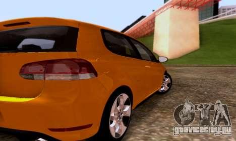 Volkswagen Golf 6 GTI для GTA San Andreas вид справа