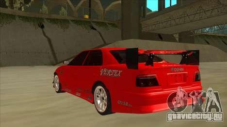 Toyota Chaser JZX100 DriftMuscle для GTA San Andreas вид сзади