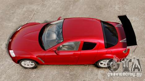 Mazda RX-8 Light Tuning для GTA 4 вид справа