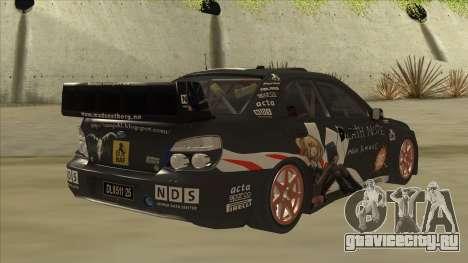 Subaru Impreza WRC Itasha для GTA San Andreas вид справа