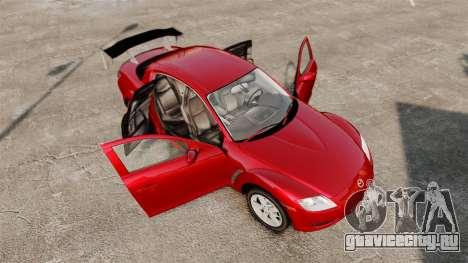 Mazda RX-8 Light Tuning для GTA 4 вид сбоку