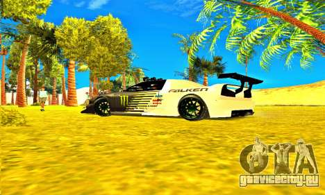 Infernus Rally Moster Energy 2012 для GTA San Andreas вид справа