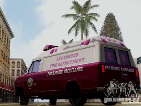 Vapid Ambulance 1986 для GTA San Andreas вид слева
