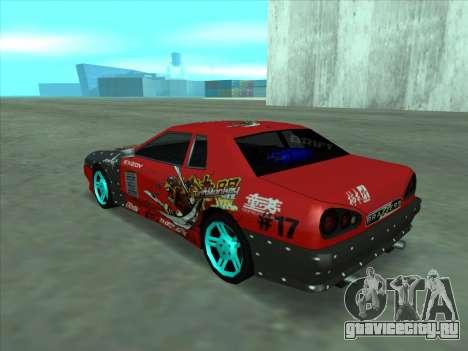 Drift elegy by KaMuKaD3e для GTA San Andreas вид изнутри