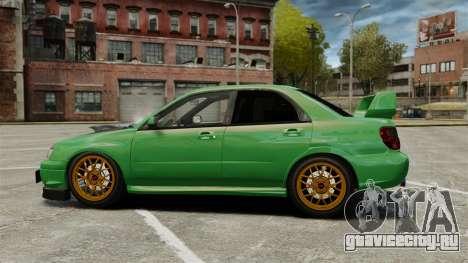 Subaru Impreza 2005 DTD Tuned для GTA 4 вид слева