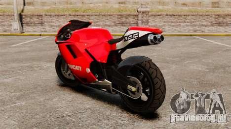 Ducati 1098 для GTA 4 вид сзади слева