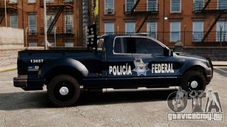 Ford F-150 De La Policia Federal [ELS & EPM] v1 для GTA 4 вид слева