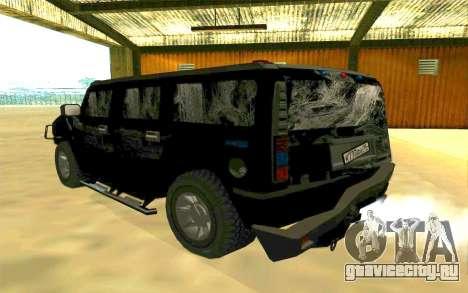 Hummer H2 для GTA San Andreas салон