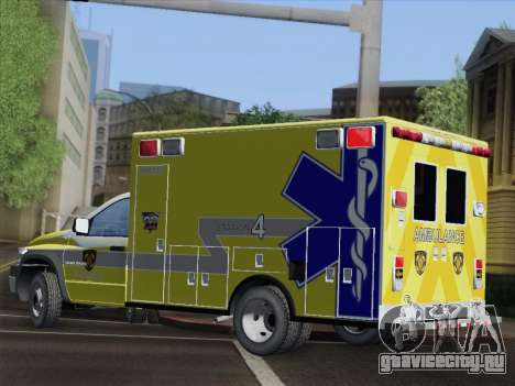 Dodge Ram Ambulance BCFD Paramedic 100 для GTA San Andreas вид сверху