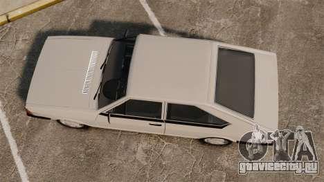 Volkswagen Passat TS 1981 для GTA 4 вид справа