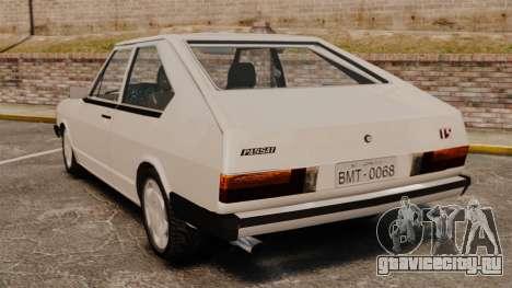 Volkswagen Passat TS 1981 для GTA 4 вид сзади слева