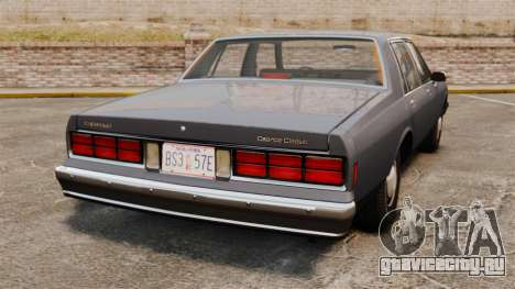 Chevrolet Caprice 1989 для GTA 4 вид сзади слева
