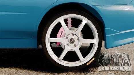 Subaru Impreza для GTA 4 вид сзади