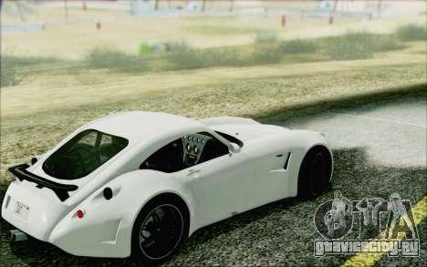 Wiesmann GT MF5 2010 для GTA San Andreas вид сзади слева